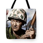 Sargent Stryker U S M C  Iwo Jima Tote Bag