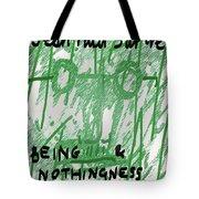 Sartre Poster Jp  Tote Bag