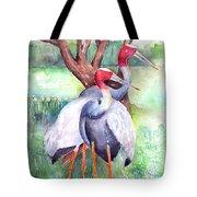 Sarus Cranes Tote Bag