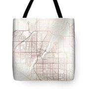 Saskatoon Street Map Colorful Copper Modern Minimalist Tote Bag