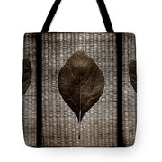Sassafras Leaves With Wicker Tote Bag