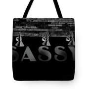 Sassy Under The Lights Tote Bag