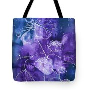 Sassy White Flowers Tote Bag