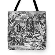 Satan With Cavorting Dancers, 18th Tote Bag