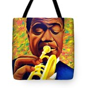 Satchmo, Louis Armstrong Painting Tote Bag