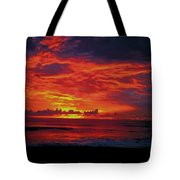 Satellite Beach Sunrise Tote Bag