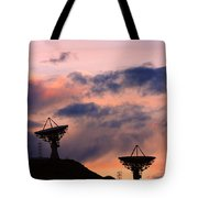 Satellite Sunset Tote Bag