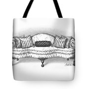 Satin Chippendale English Sofa Tote Bag