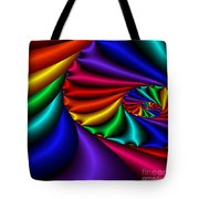 Satin Rainbow Tote Bag