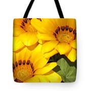 Satin Yellow Florals Tote Bag