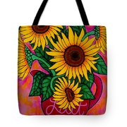 Saturday Morning Sunflowers Tote Bag