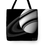 Saturn And Tethys Tote Bag