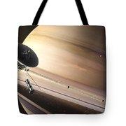Saturn Flyby Tote Bag