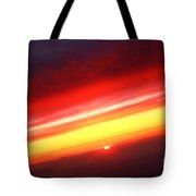 Saturn On Earth Sunset Tote Bag