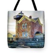 Saugerties Lighthouse Tote Bag by Nancy De Flon