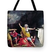 Saul & Witch Of Endor Tote Bag