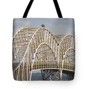 Sault Ste Marie International Bridge Arch Tote Bag by Danielle Allard
