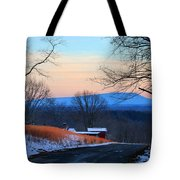 Sauratown View In Winter Tote Bag