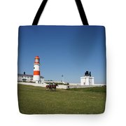Souter Lighthouse And Foghorn. Tote Bag