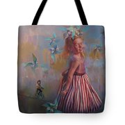 Savanah At Play Tote Bag
