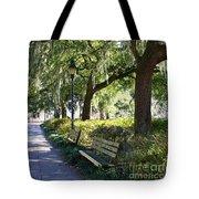 Savannah Benches Tote Bag