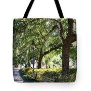 Savannah Benches Tote Bag by Carol Groenen