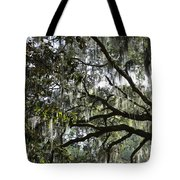 Savannah Green Leaves Tote Bag