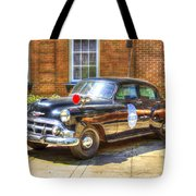 Savannah Police Car 1953 Chevrolet  Tote Bag
