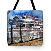 Savannah River Queen Boat Georgia Tote Bag