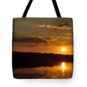 Savannah River Sunset Tote Bag