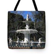 Savannah Square Fountain Tote Bag
