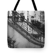 Savannah Stoops - Black And White Tote Bag