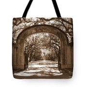 Savannaha Sepia - Wormsloe Plantation Gate Tote Bag