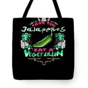 Save Jalepenos Eat Vegetarian Zombie Tote Bag