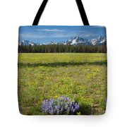 Sawtooths And Wildflowers Tote Bag
