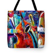 Sax And Bass Tote Bag