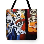 Sax Guitar Music Day Of The Dead  Tote Bag