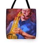Sax Player  Tote Bag