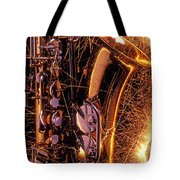 Sax With Sparks Tote Bag by Garry Gay