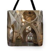 Saxon Baptismal Font Wells Cathedral, Somerset Uk Tote Bag