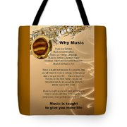 Saxophone Photograph Why Music For T-shirts Posters 4827.02 Tote Bag