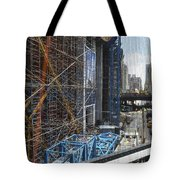 Scaffolding In The City Tote Bag