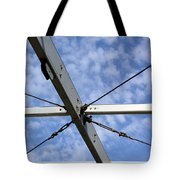 Scaffolding Sky View Tote Bag