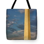 Scaling The Washington Monument Tote Bag