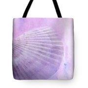 Scallop Sea Shell In Purple Tote Bag by Betty LaRue