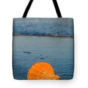 Scallop Seashell On The Beach Tote Bag