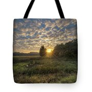Scalloped Morning Skies Tote Bag