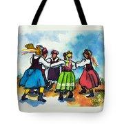 Scandinavian Dancers Tote Bag