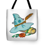 Scarecrow Hat From Wizard Of Oz Tote Bag