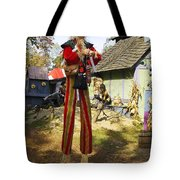 Scarecrow Walking On Stilts Tote Bag